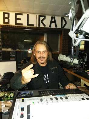 Kevin Lane behind the Rebel Radio board