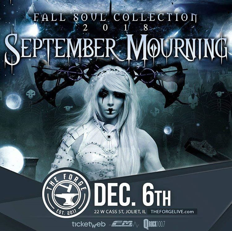 September Mourning at The Forge, Thursday, December 6, 2018