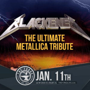 Blackened, The ultimate Metallica tribute band at the Forge, Friday, January 11, 2019