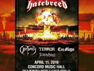 Hatebreed at the Concord Music Hall on Thursday, April 11, 2019