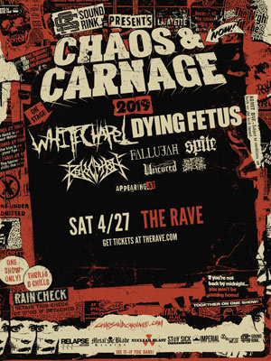 Whitechapel @The Rave Eagles Club on Saturday, April 27, 2019