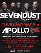 Sevendust at the Apollo Theatre AC in Belvidere, Thursday, May 9, 2019