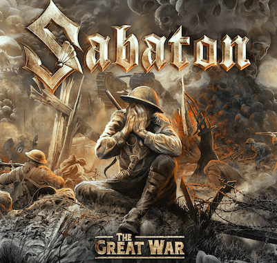 """Sabaton """"The Great War"""" album cover, available July 19, 2019"""