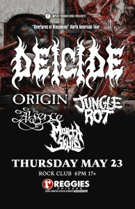 Deicide show with Origin, Jungle Rot, the Absence, and Morta Skuld at Reggies May 23, 2019