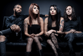 Eyes Set To Kill members sitting on a couch - coming to Route 20 on Tuesday, June 25, 2019