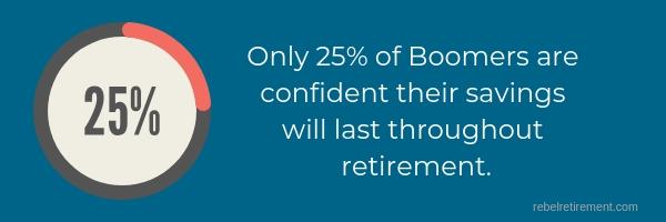 25% of boomers - Rebel Retirement
