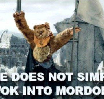 Star Wars Ewok Mordor Meme