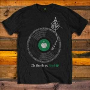 Тениска The Beatles Apple Turntable
