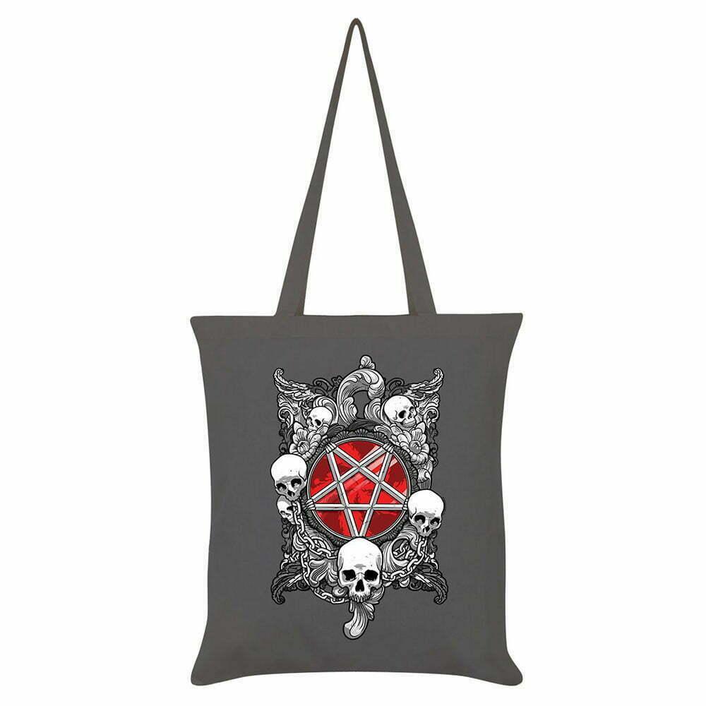 Платнена чанта Pentagram&Skulls