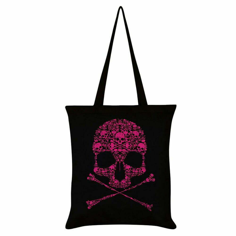 Платнена чанта Pink Skull
