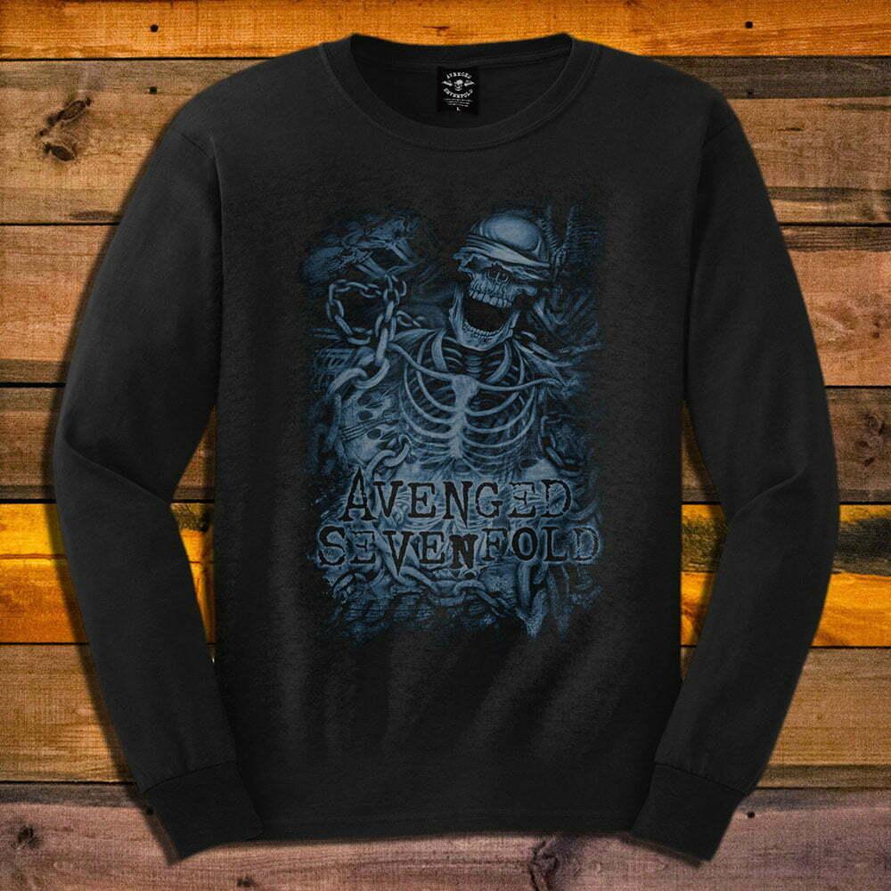 Блуза с дълъг ръкав Avenged Sevenfold Chained Skeleton