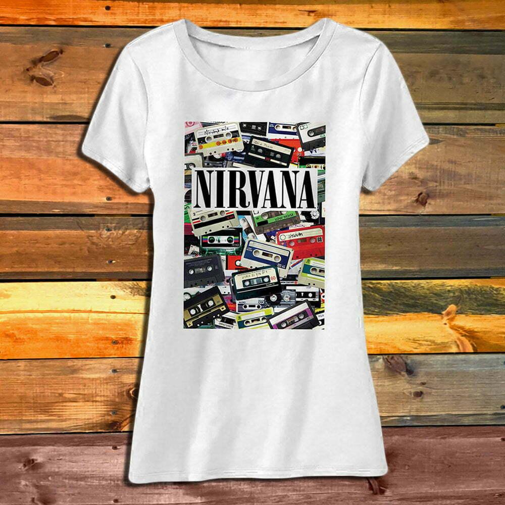 Дамска Тениска Nirvana Cassettes