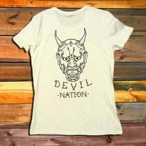 Дамска Тениска Dishonored Devil Nation White гръб
