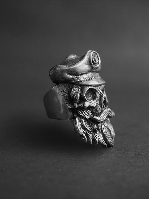 handcarved skull rings