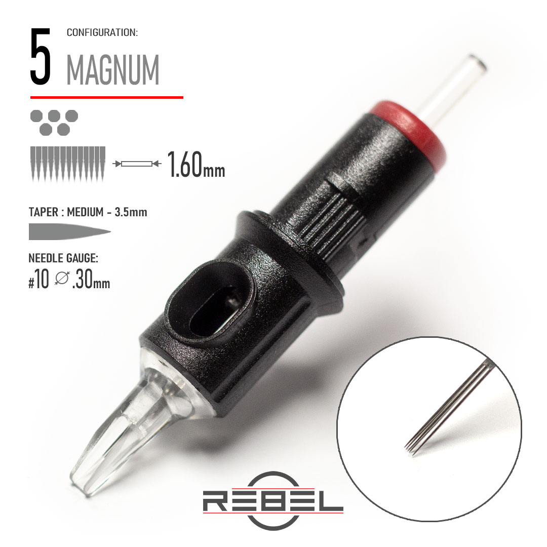 REBEL-Precision Cartridge-MAGNUM-5-Shader Needle