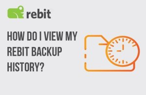 How To View Backup History Of Rebit