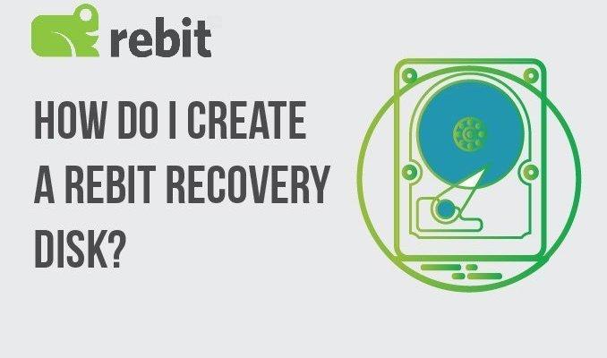 ¿Cómo creo un disco de recuperación de Rebit?