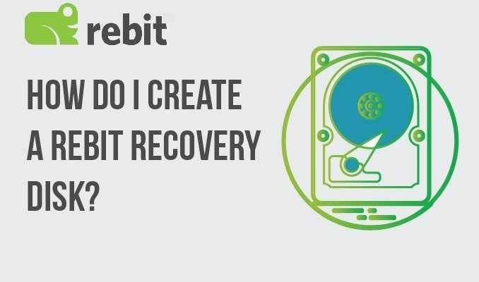 Rebit 복구 디스크를 어떻게 만듭니 까?