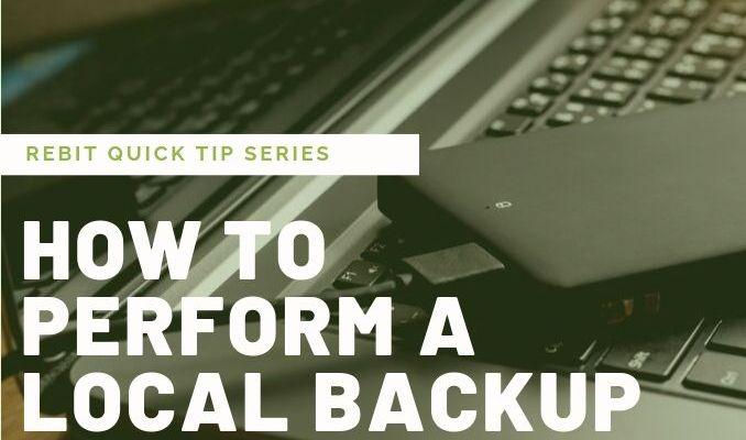 Come eseguire un backup locale | Rebit