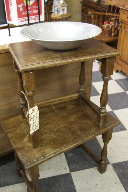 Set of Nesting Tables $95 Unpainted $135 Painted larger table 23 x 15 x 18 1/4 smaller table 17 1/4 x 12 1/4 x 17 1/8 #s 1067 & 1068