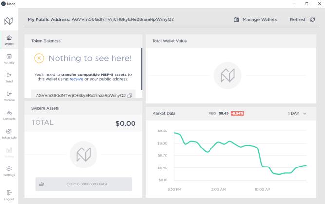 Market data, token balances on app hompage