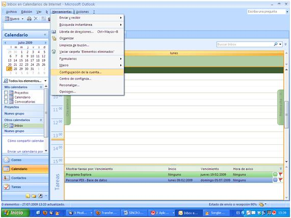 Tutorial para sincronizar Google Calendar con Outlook (3/6)