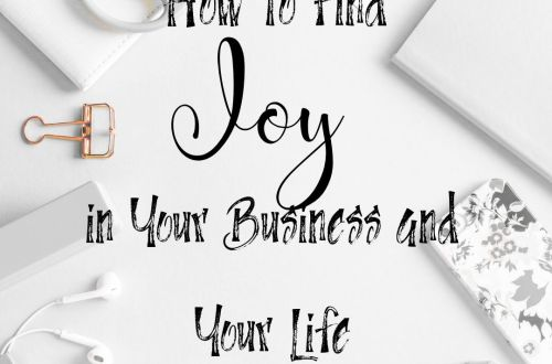 find joy in business