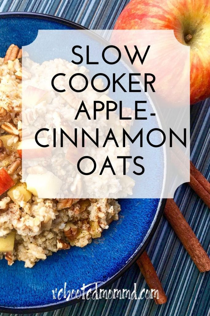 apple cinnamon oats slow cooker