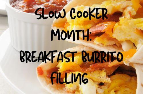 slow cooker breakfast burrito filling