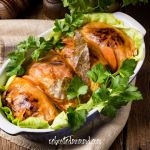 Stuffed Cabbage in Tomato Sauce slow cooker