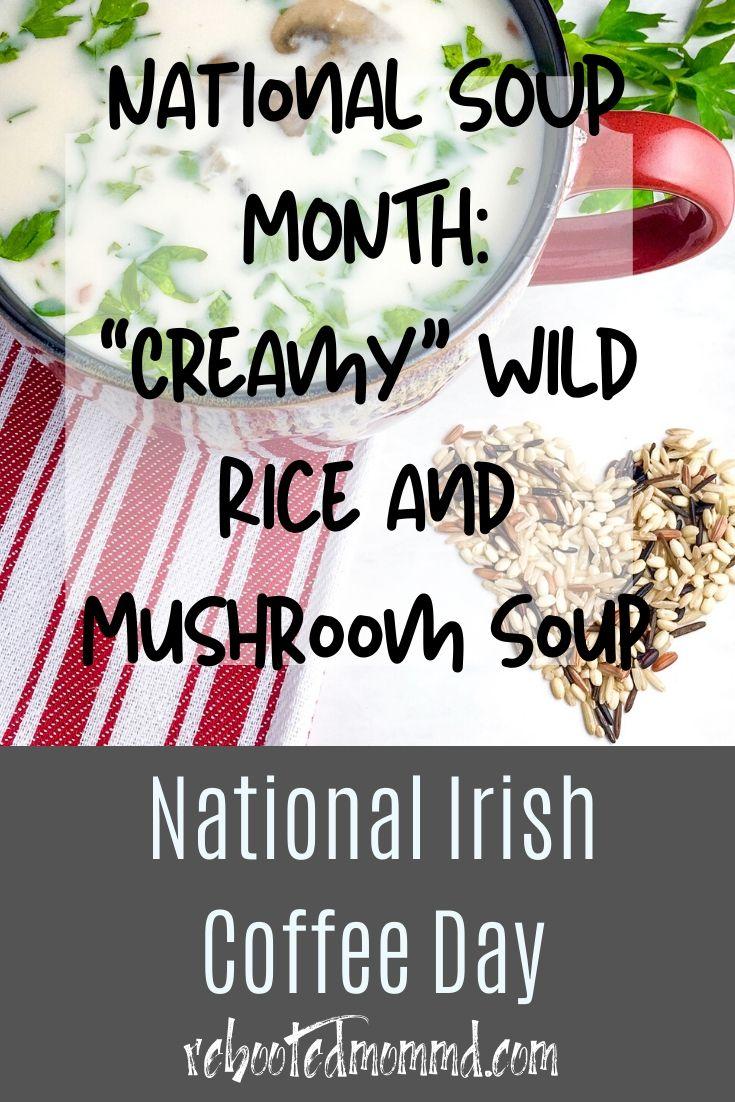 """Creamy"" Wild Rice and Mushroom Soup"
