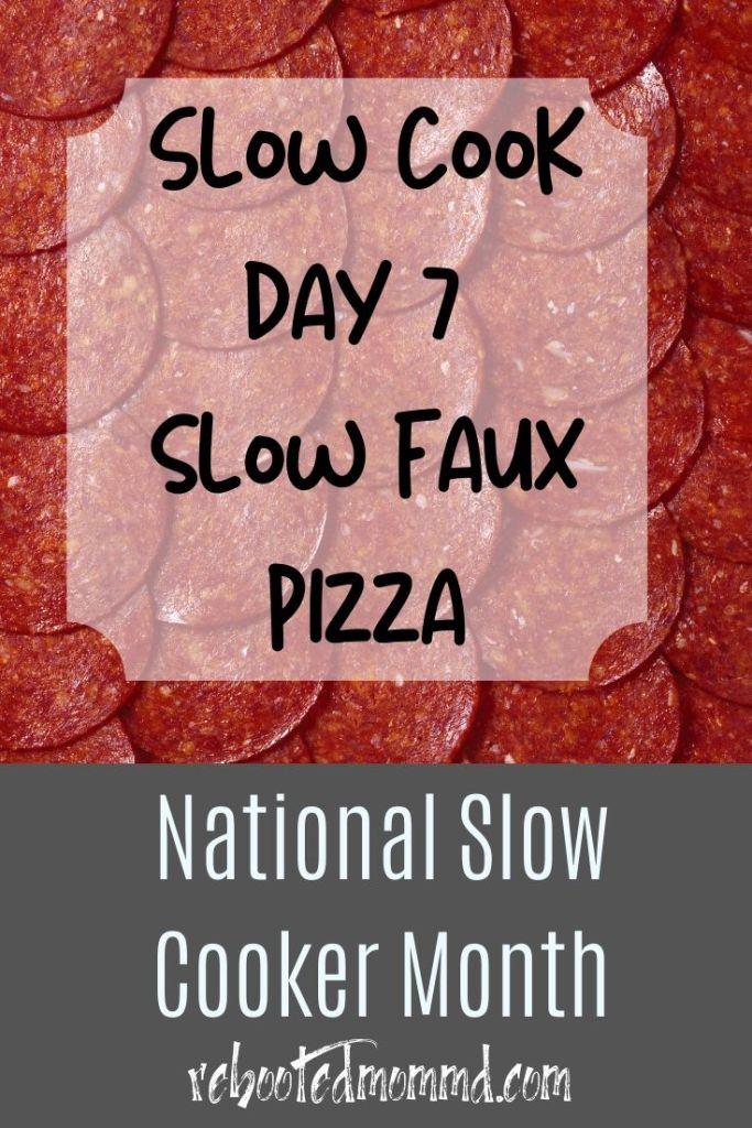 slow faux pizza