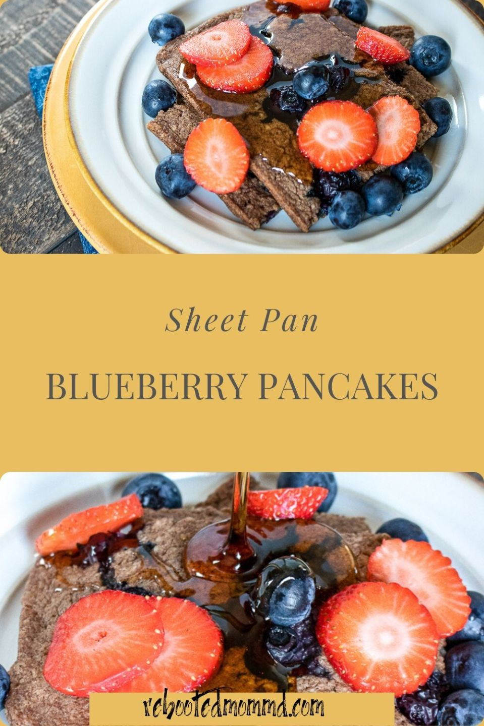 Sheet Pan Blueberry Pancakes