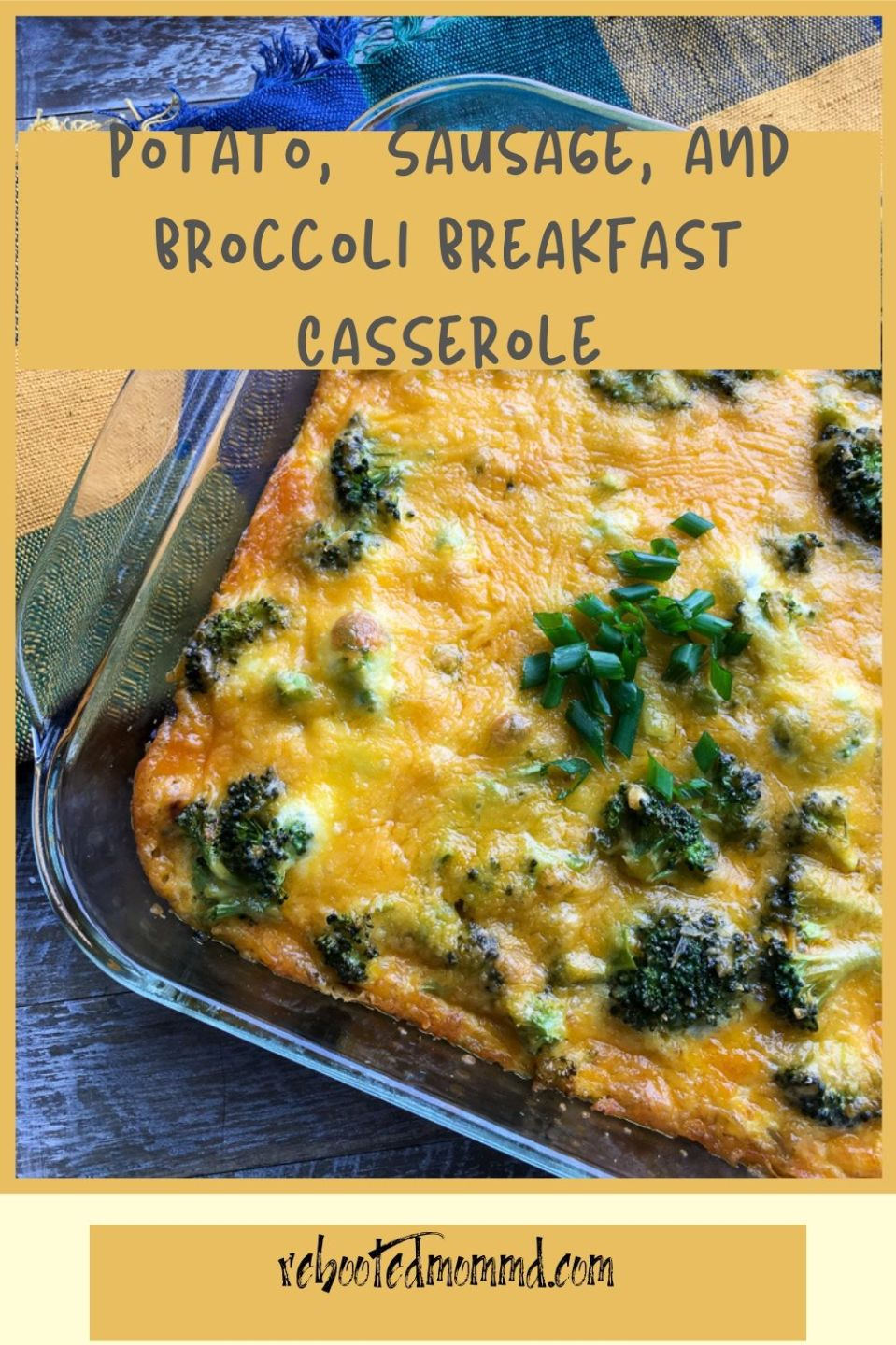 Potato, Sausage, and Broccoli Breakfast Casserole