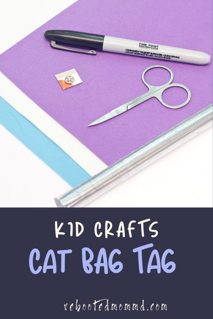 arts and crafts cat bag tag