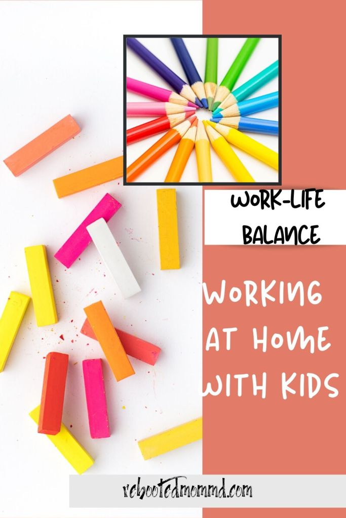 working at home with kids