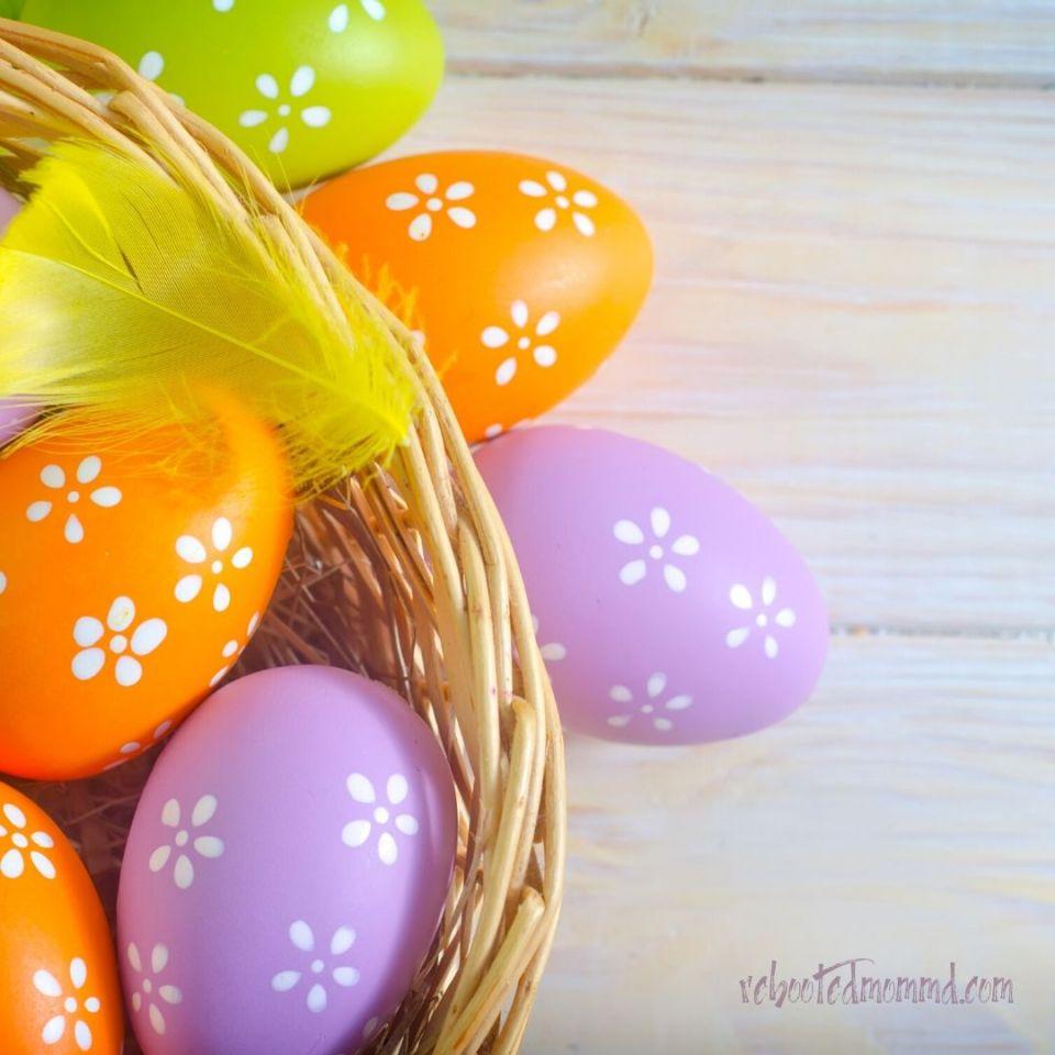 plastic eggs easter basket