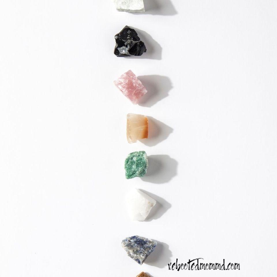 colored meditation stones