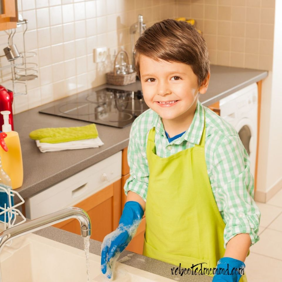 child cleaning life skills