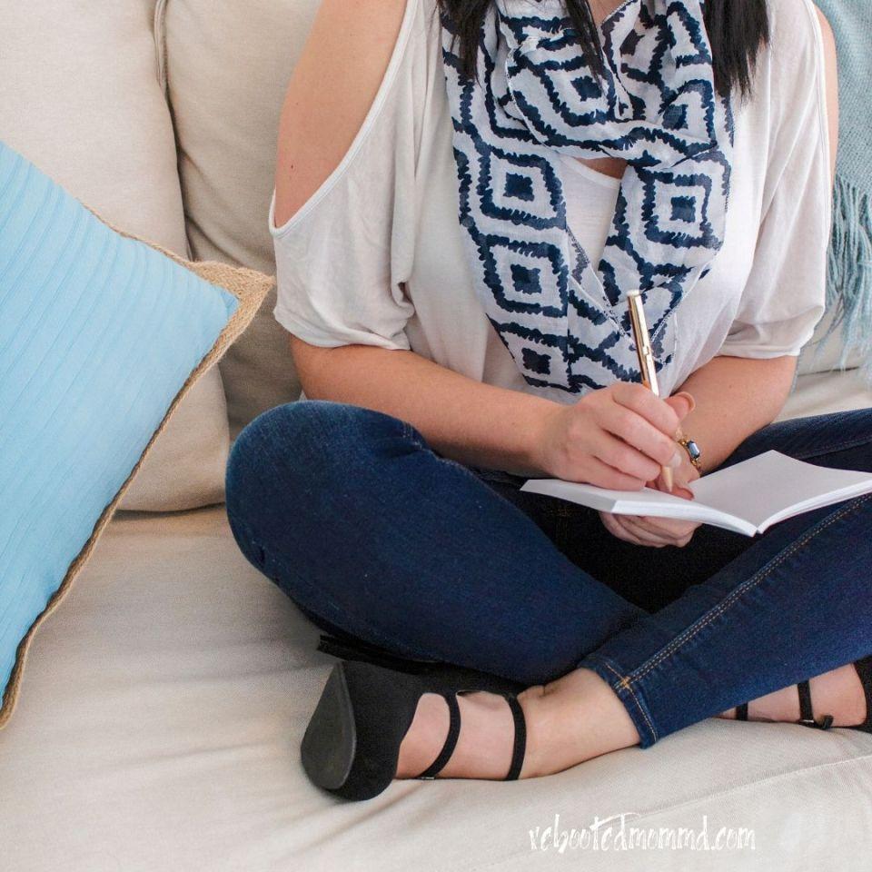 woman notebook business