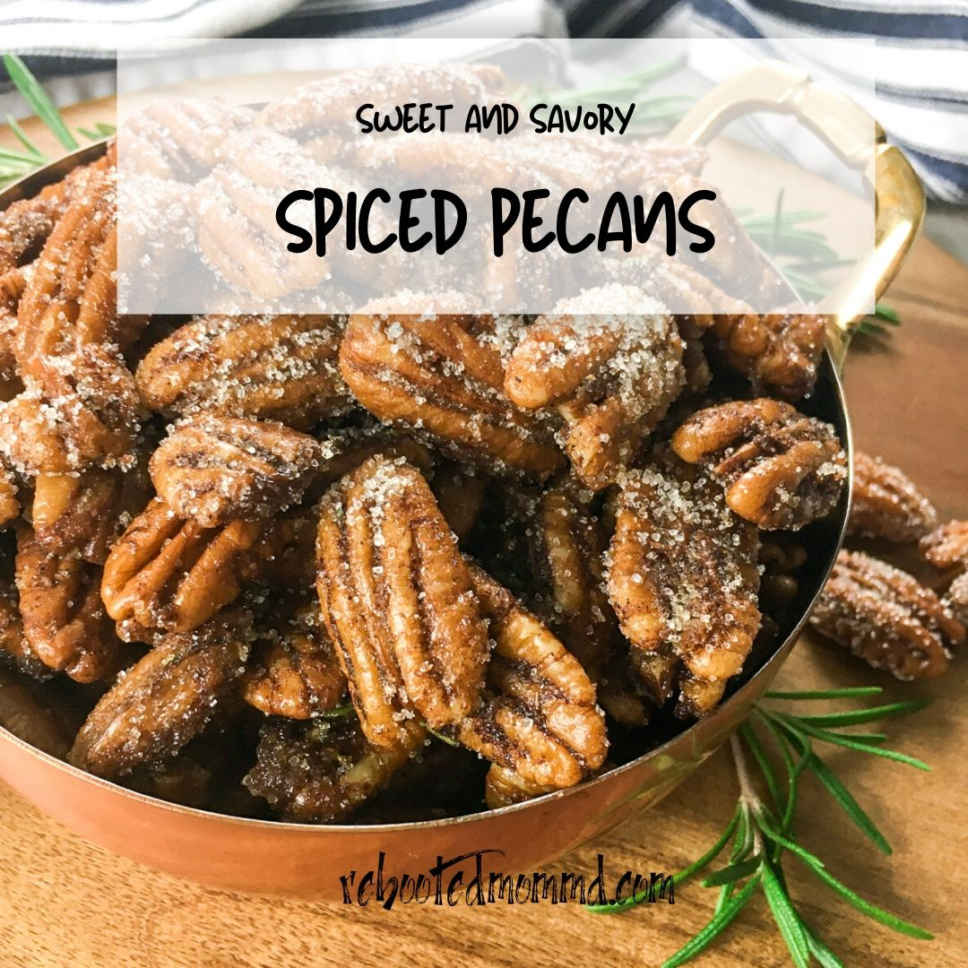 sweet and savory spiced pecans