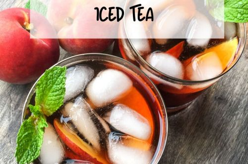 ginger-peach iced tea:
