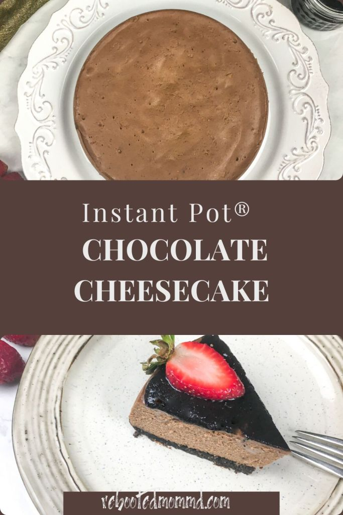Instant Pot® Chocolate Cheesecake