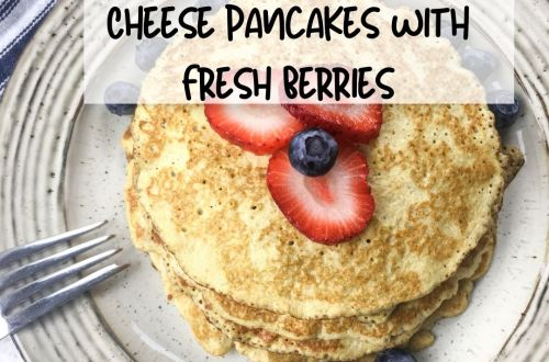 Cream Cheese Pancakes with Fresh Berries.