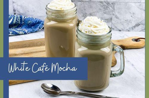 white cafe mocha