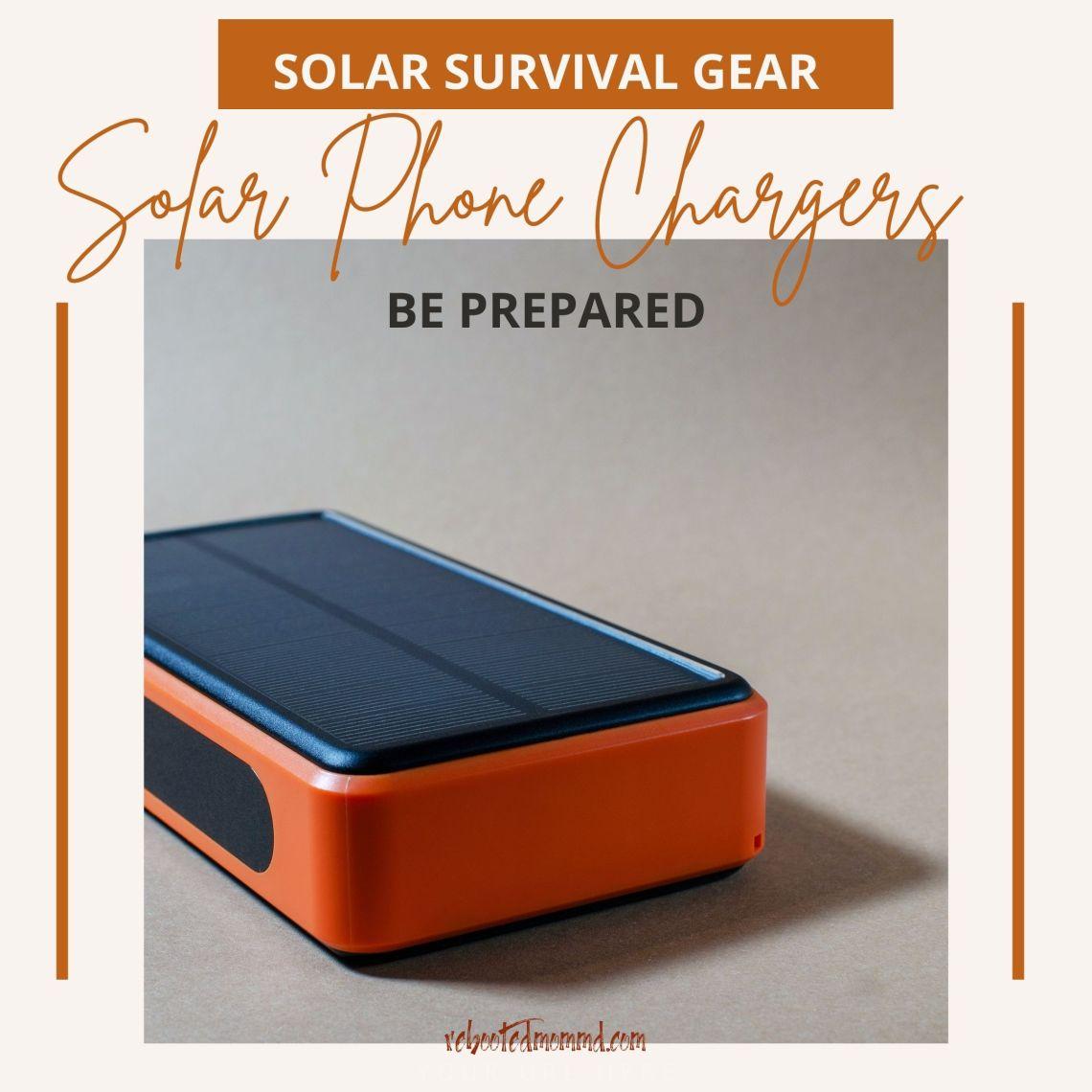 solar survival gear