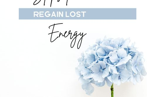 regain energy