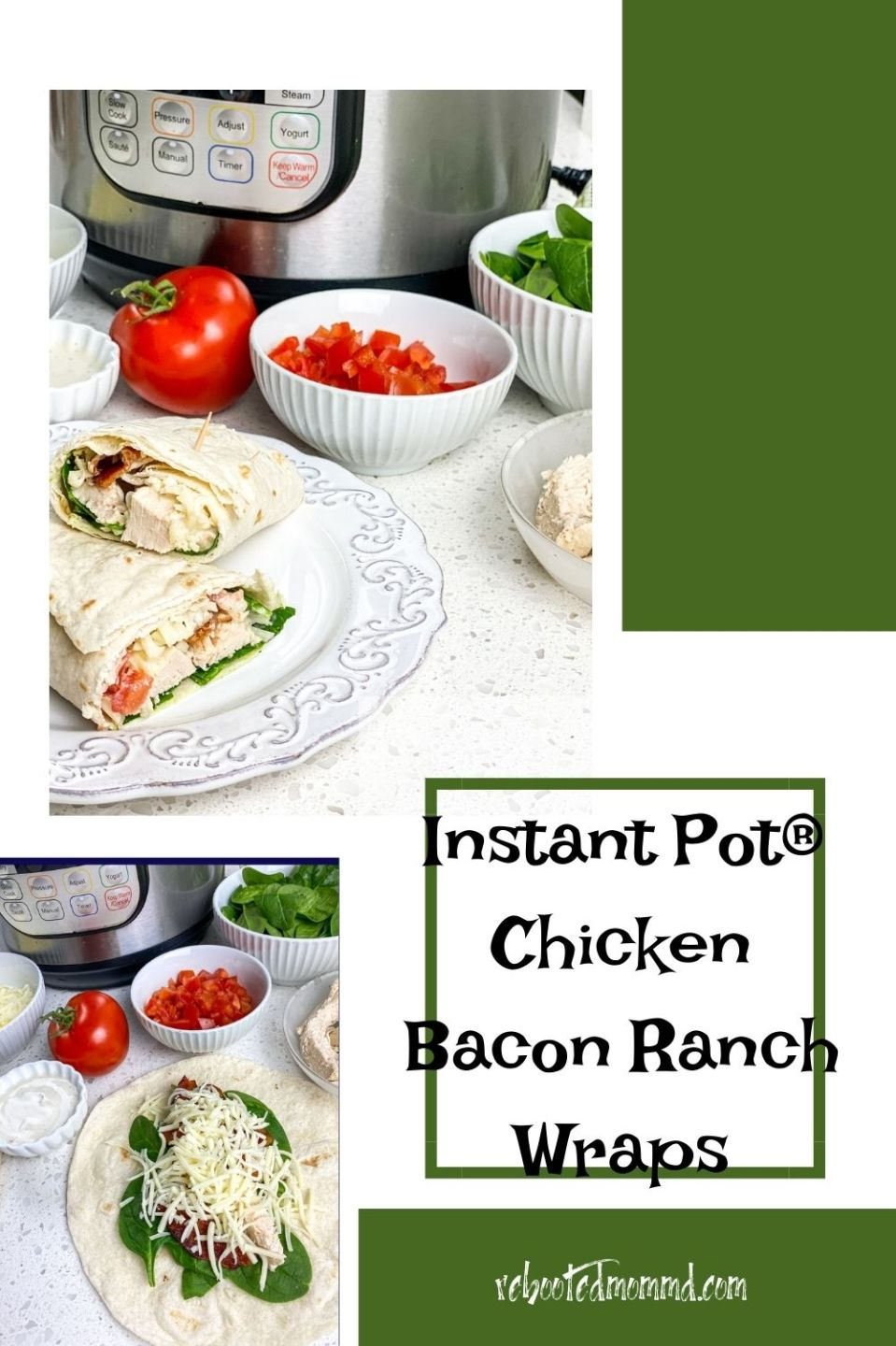 Instant Pot® Chicken Bacon Ranch Wraps
