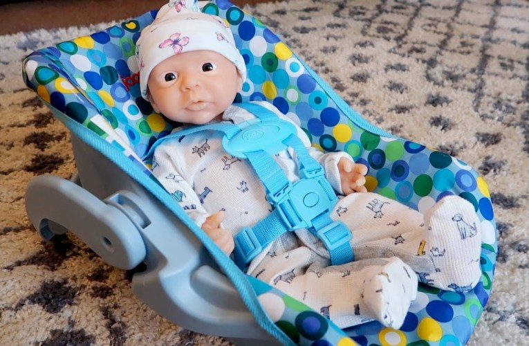 How to Make Silicone Baby Doll Look Realistic In Joovy Car Seat
