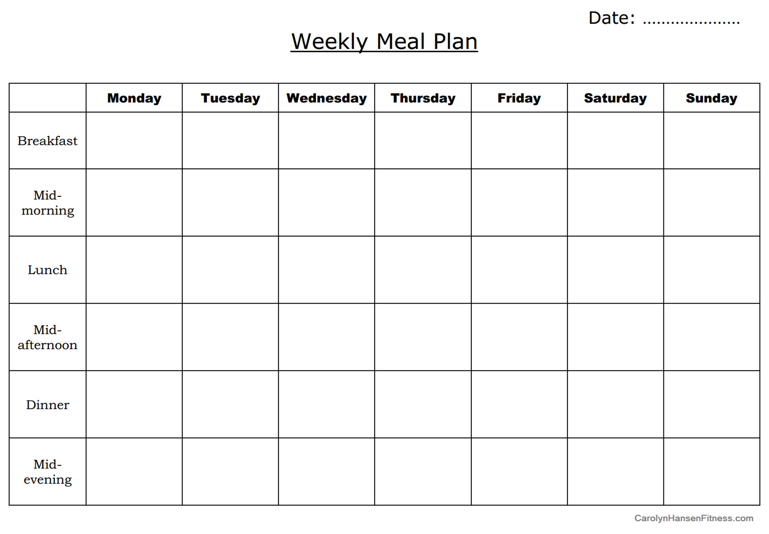 Meal Planning Is Key To Eating Healthy